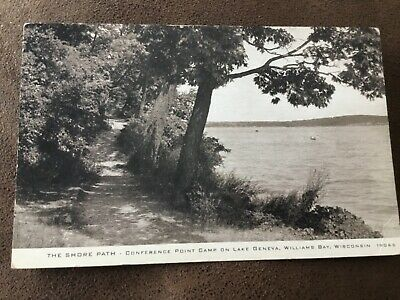 Williams Bay WI Conference Point Camp on Lake Geneva Postcard Wisconsin (Bayshore Wi)