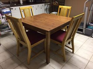 Solid wood dinette