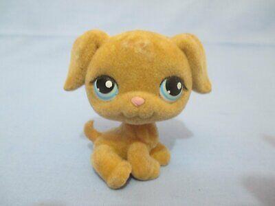 Littlest Pet Shop Dog Fuzzy Golden Retriever 320  Puppy Authentic Lps