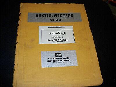 Austin-western Model 99m Power Grader Repair Parts Catalog Manual