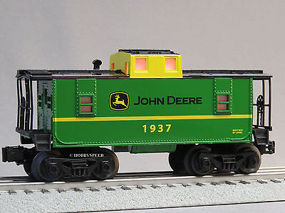 LIONEL JOHN DEERE ILLUMINATED CABOOSE O GAUGE train runs like a deer 6-83286 NEW