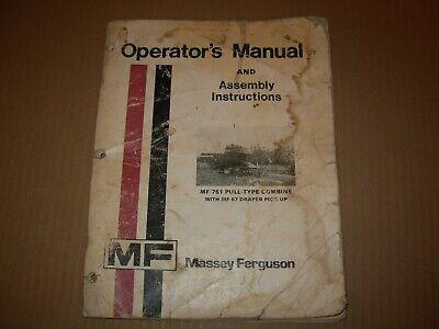 Massey Ferguson Mf 751 Pull-type Combine Operators Manual