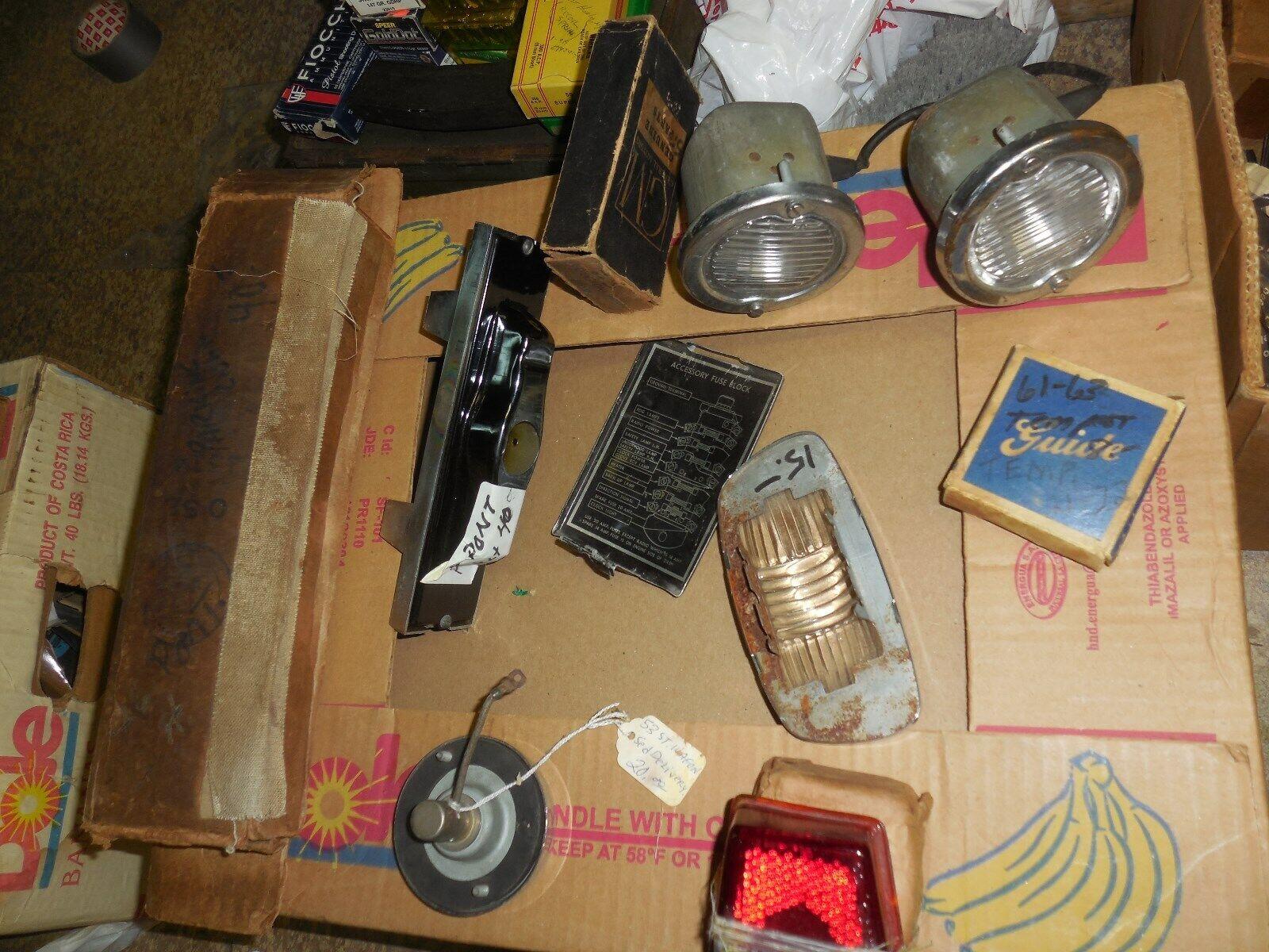 Lot of NOS GM&Guide Pontiac parts 1940-1960's 10 pieces Mostly Lighting&Lenses