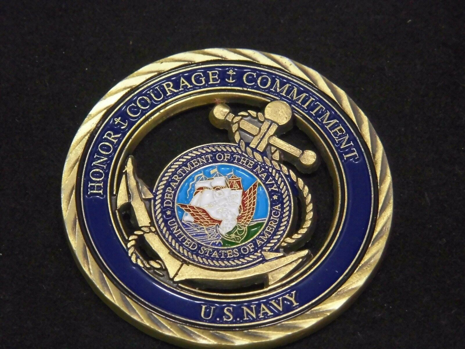 U.S. Navy / Core Values - USN Challenge Coin Naval Collectible Sailor