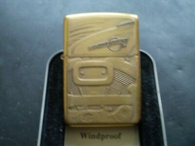 "ZIPPO/ A MEGA RARE VINTAGE SOLID BRASS HARLEY DAVIDSON "" ENGINE "" FROM 1996 NEW"