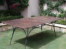 Outdoor Timber &  Wrought Iron Table Claremont Nedlands Area Preview
