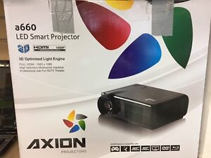 AXION PROJECTOR WITH SCREEN