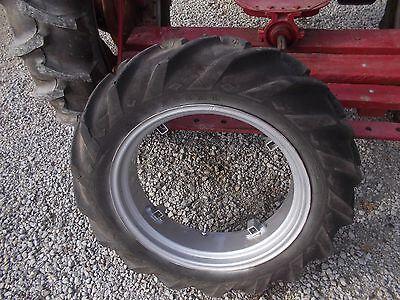 Farmall Cub Or Lo Low Boy Tractor 9-24 Good Year Tread Tire Repainted Ih Rim