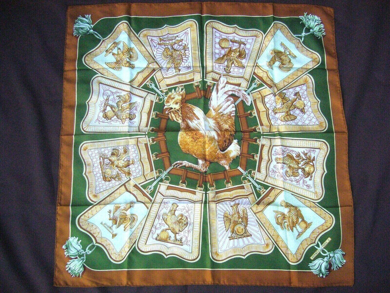 Rare foulard  soie hermès
