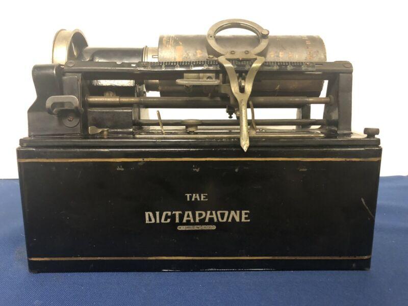 Antique Dictaphone Transcribing Machine & Accessories
