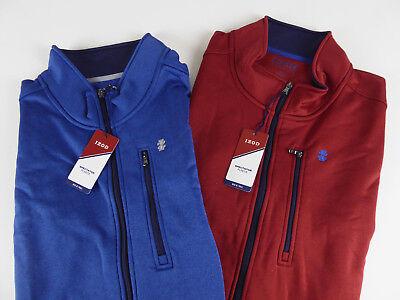 (IZOD Fleece Lined Spectator Vest NWT Full Zip Embroidered Logo Zip Chest Pocket)