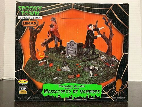 LEMAX  Spooky Town Vampire Slayer	94951 Lighted Animated Table