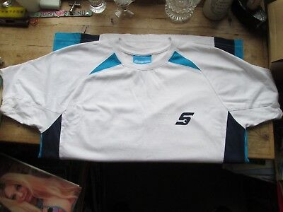 SNAP ON AUTHENTIC T SHIRT BLUE / WHITE USED ONCE