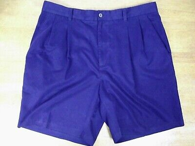 Polyester-walking Shorts (Izod Golf Mens Size 36 NAVY Blue Pleated Front Polyester Walking Casual Shorts )