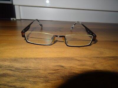 Brille Vicenti 116180 schwarz mit bronze Rand - Metall oben rahmenlos