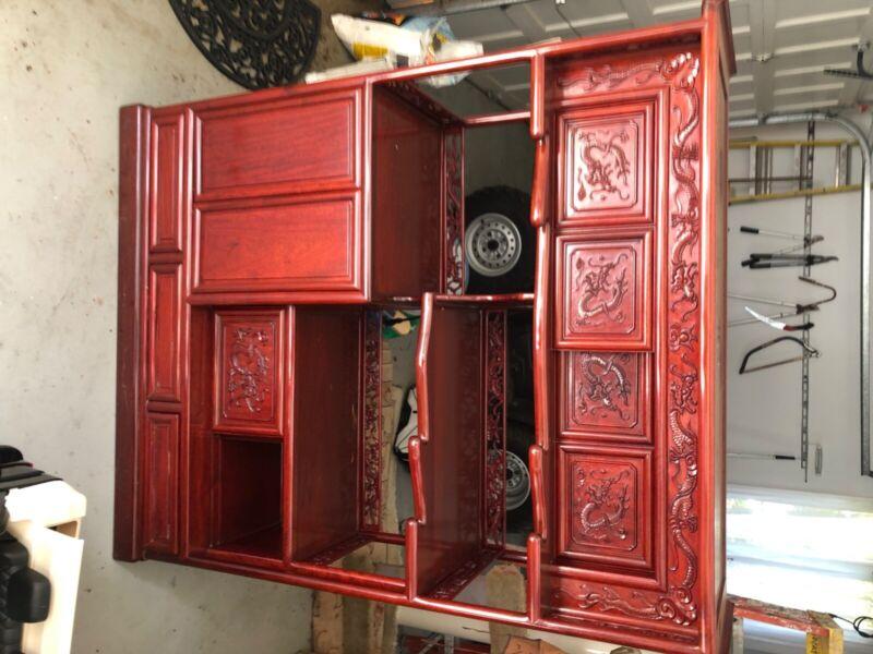 rosewood tea cabinet SINO FURNISHINGS