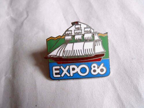 Vintage Expo 86 Vancouver Canada Sailing Ship Enamel Souvenir Pin