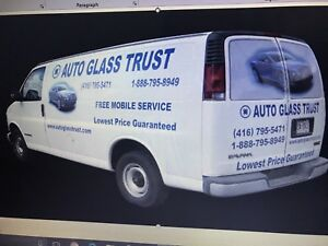 Windshield/door glass/back glass start $149.