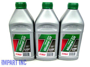 Bentley  Jaguar  Rolls Royce  Hydraulic Mineral Oil JLM9886 PFM201 (3) bottles