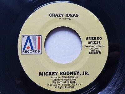 MICKEY ROONEY JR - Crazy Ideas / Moonlite Masquerade 1978 POP ROCK 7