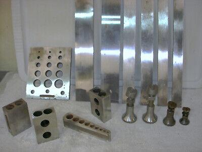Machinists Lot - Parallel -tapping Block - 3 Die Blocks - 2 Jacks
