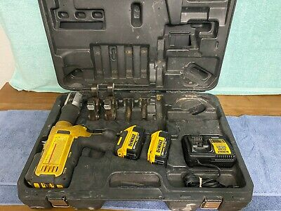 Dewalt Dce200 20 Volt Cordless Pipe Press Tool With 2 Ridgid Crimping Head Jaws