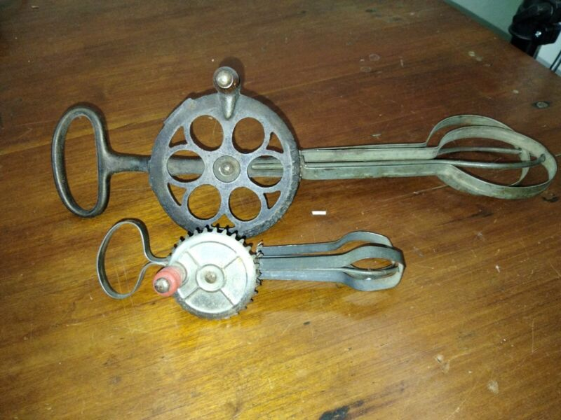 Antique  Kitchen Utensil Egg Beater and Betty Taplin toy beater
