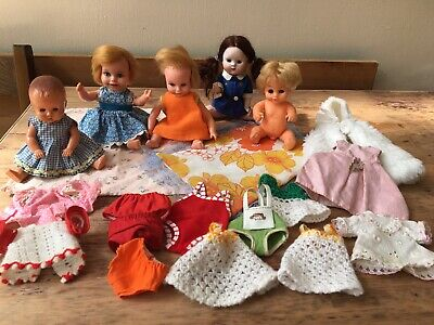 VINTAGE SMALL BABY DOLLS Palitoy Sarold Tudor-Rose Deluxe-Reading CLOTHES +