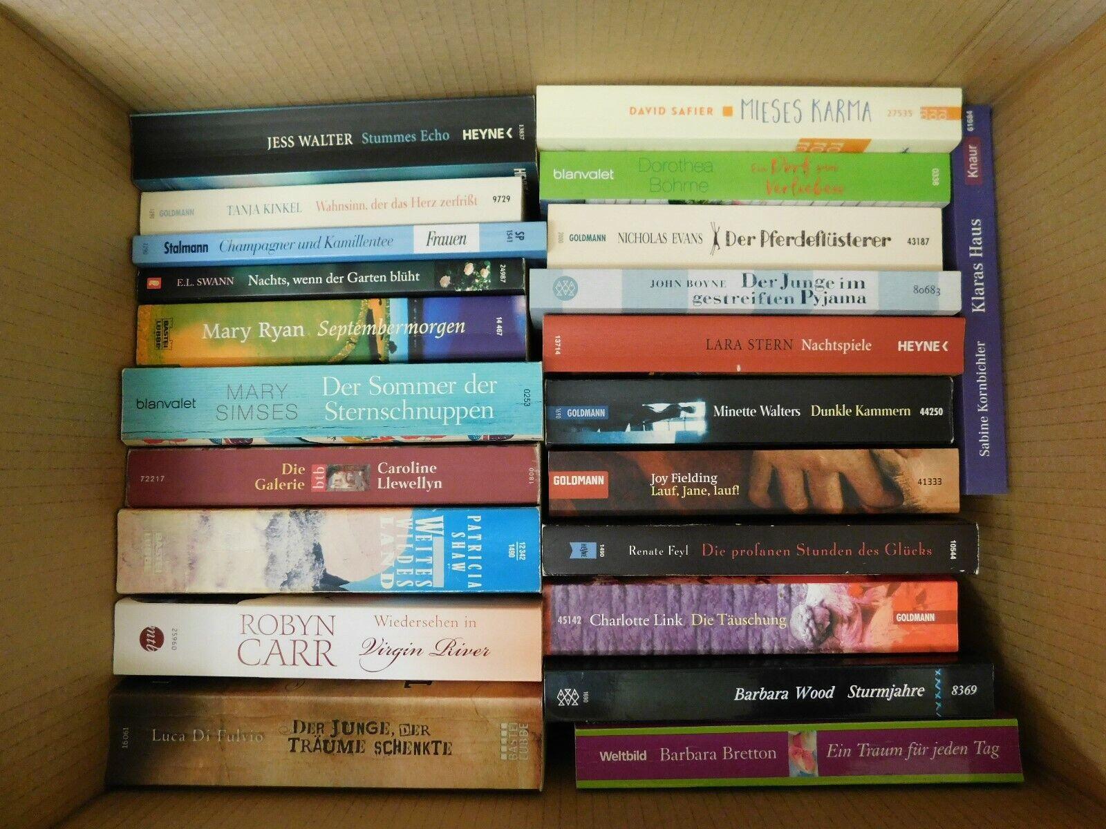 22 Bücher Taschenbücher Romane Top Titel Bestseller Paket 4