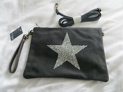 Used, BNWT Ladies Cotswold Trading MODA Black Silver Star Wristlet Crossbody Hand Bag for sale  Shipping to Ireland