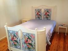 Renaissance Style Large Double Bed with matching Stool Artarmon Willoughby Area Preview