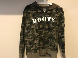 Roots camouflage zip up sweater
