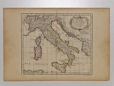 c.1780 Genuine Antique Map of Italy,