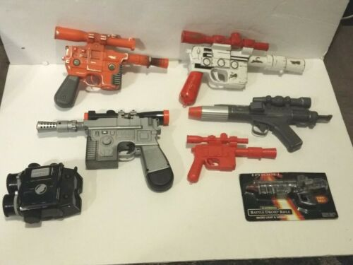 1990s Star Wars Cosplay Laser Gun Blaster Lot Tested And Working 100%