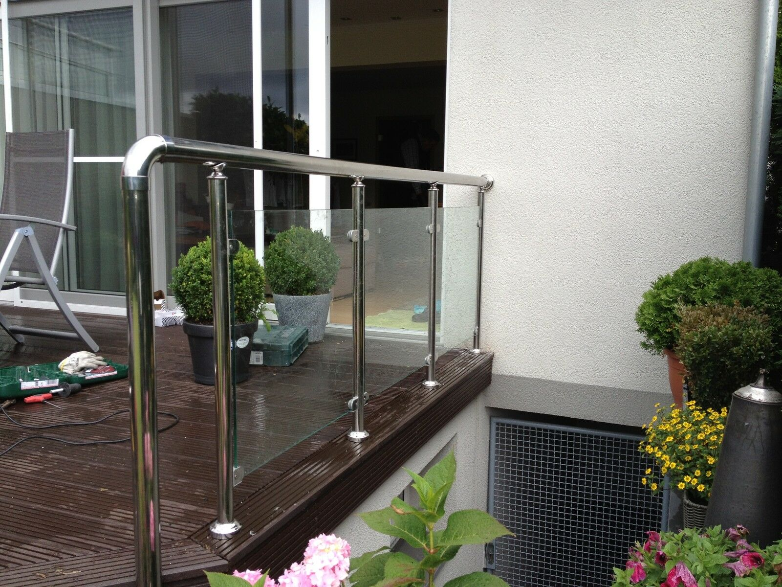 balkongel nder glas aluminium balkon gel nder vsg glas eur 89 91 picclick de. Black Bedroom Furniture Sets. Home Design Ideas