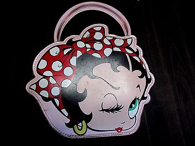 VINTAGE BETTY BOOP PINK PURSE POCKETBOOK DECO ORIGINAL
