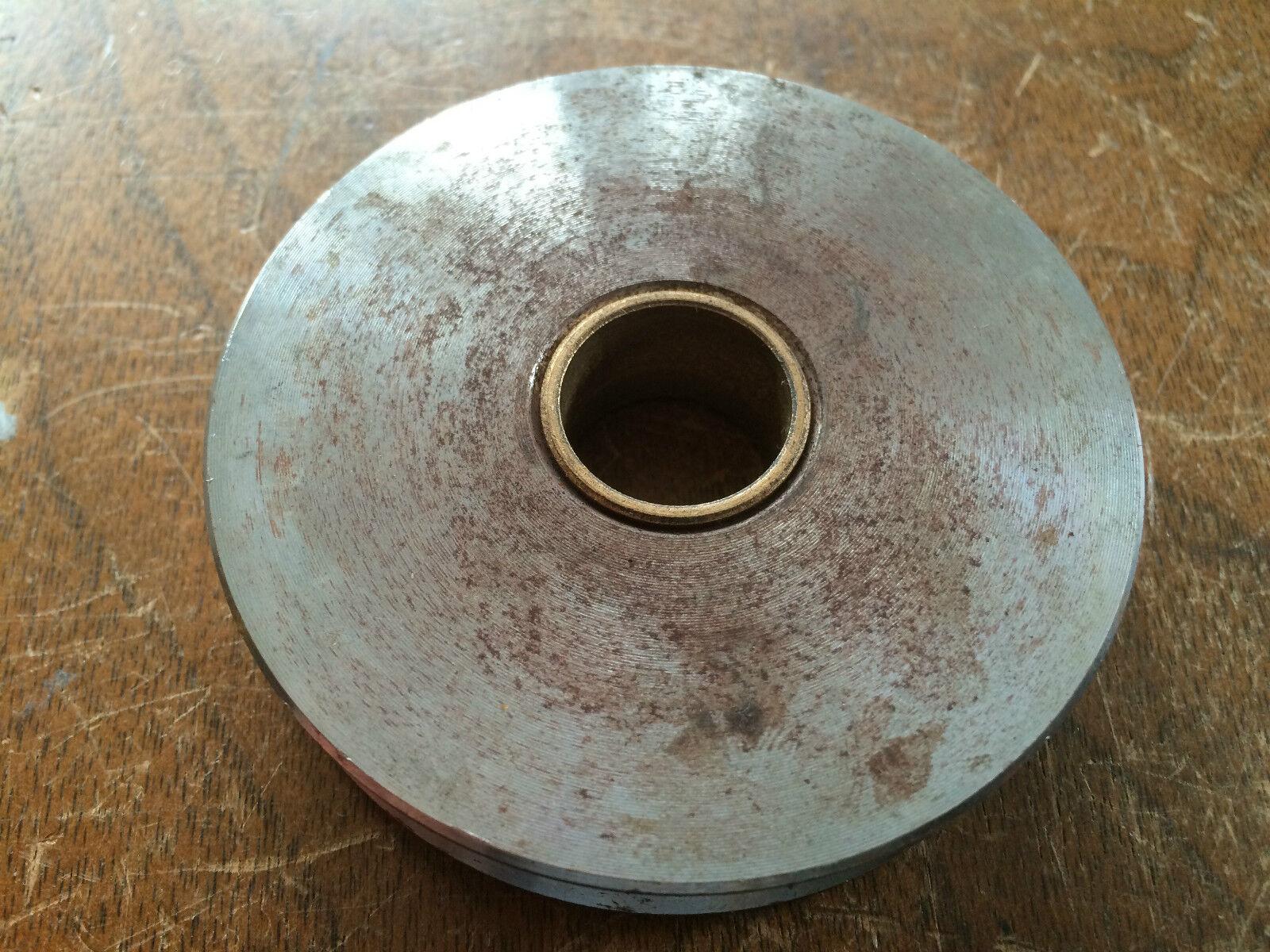 "NOS Delta Rockwell Metal Lathe 3"" Idler Pulley p/n 414013625001 Bronze Bushing"