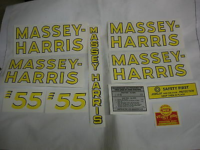 Massey Harris 55 Tractor Decal Set - New