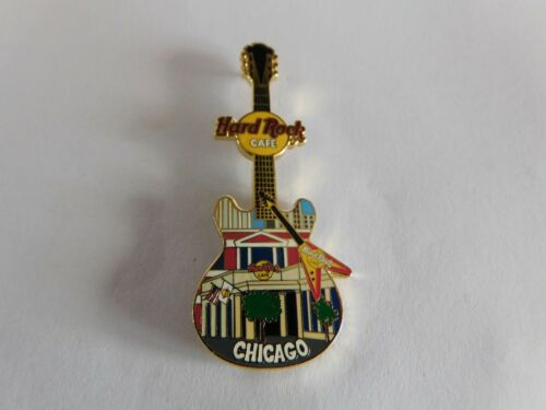 Hard Rock Cafe CHICAGO 2004 - Facade Front HRC Building Guitar Series Pin