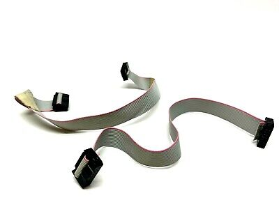 14 Pin Female Idc 10 Ribbon Cable Lot Of 2