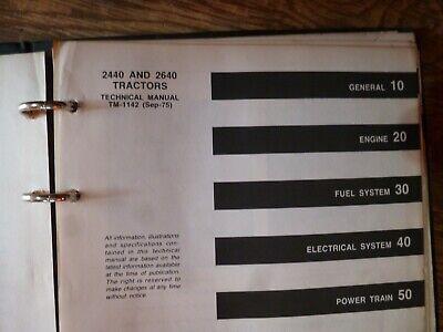 John Deere 2440 2640 Tractor Shop Service Repair Technical Manual Orig Tm-1142