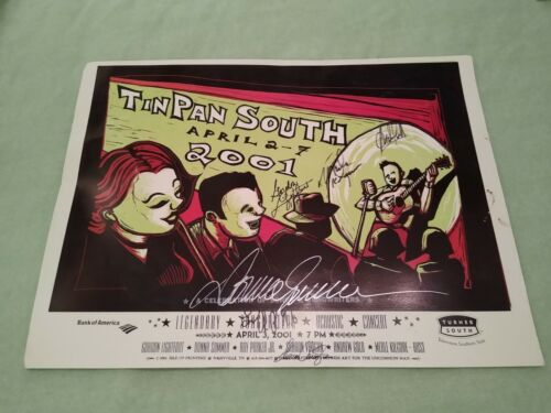 TinPan South SIGNED POSTER Donna Summers Andrew Gold Gordon Lightfoot Ryman 2001