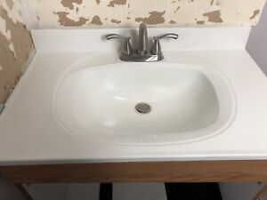 "30"" vanity top with faucets"