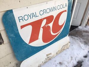 Tin Royal Crown Cola Sign for Sale