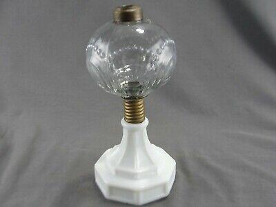 Antique Kerosene Oil Lamp Milk Sandwich Glass Base EAPG Pressed Glass