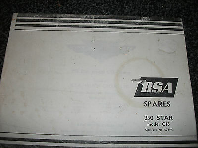 BSA SPARES  COPY of Catalogue No.00-5105 250 Star model C15