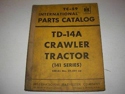 International Td-14a 141 Series Crawler Tractor Parts Manual