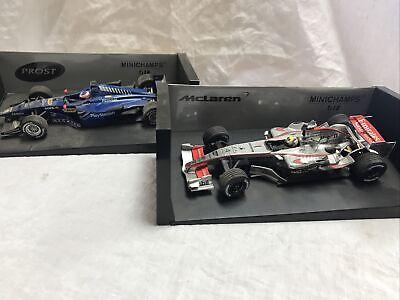 1:18 Lot Of 2 Minichamps Mclaren Prost Formula Cars F1 Die Cast Models