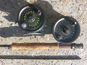 Fly fishing rod and 2 reels Warner Pine Rivers Area Preview