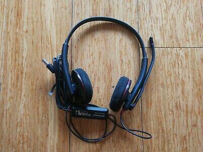 Plantronics C325 Black Headband Stereo Light-Weight USB-A Computer Headset